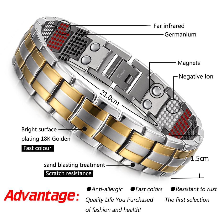 silver goldTitanium Bracelets (2)