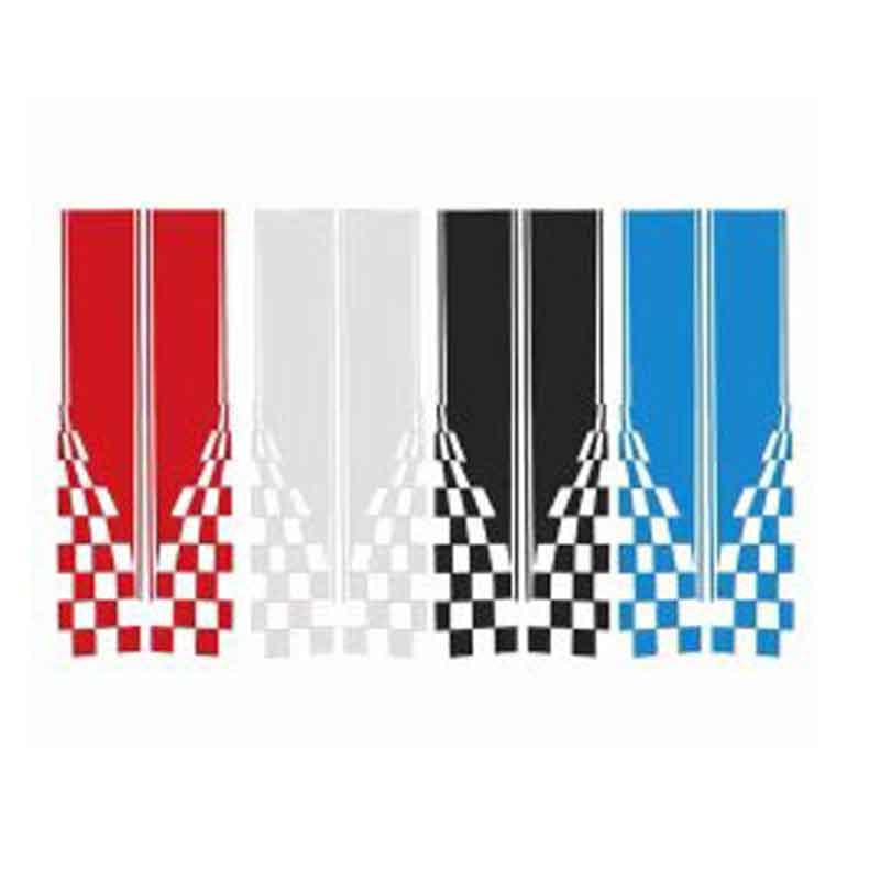 2 STK JTAccord Autot/ür Seitenstreifen Vinyl Film Aufkleber Aufkleber Dekoration f/ür Smart 451 453 Fortwo Auto Styling Zubeh/ör