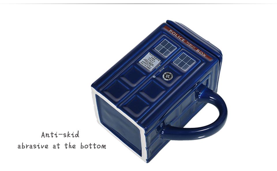 Doctor Who Tardis Police Box Ceramic Mug Cup With Lid Cover For Tea Coffee Mug Funny Creative Gift Christmas Presents Kid Men (4)