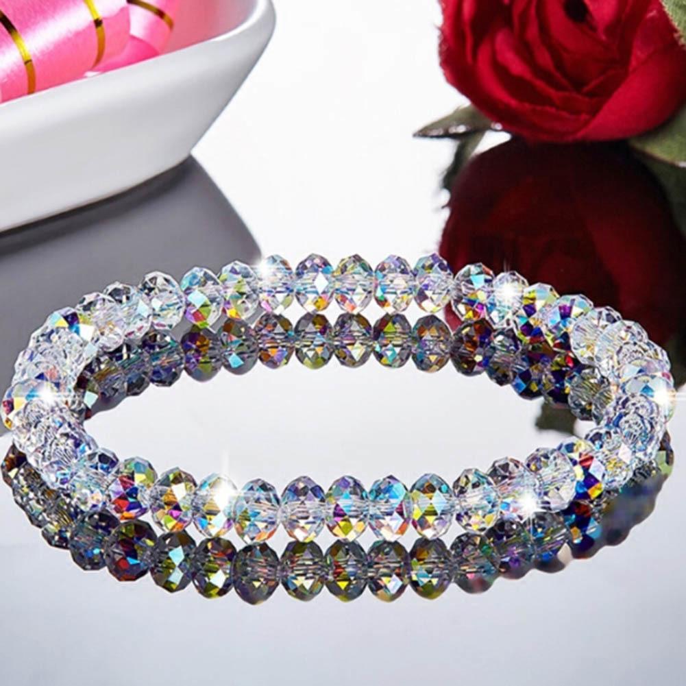 2019 Crystal Beaded Bracelets For Woman Sweet Temperament Handwork Bracelets & Bangles Charms Jewelry