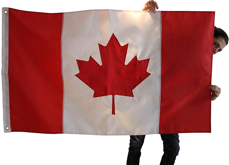 drapeaux-choix de taille et couleurs. Drapeau canadien sweat