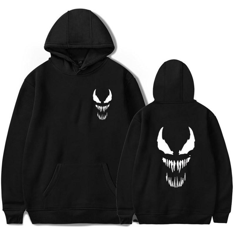 Crazy Venom Luminous Men Women Hoodies Hip Hop Sweatshirt Autumn Winter Tracksuit Sweatshirts Casual Streetwear Hooded Coat C19040302