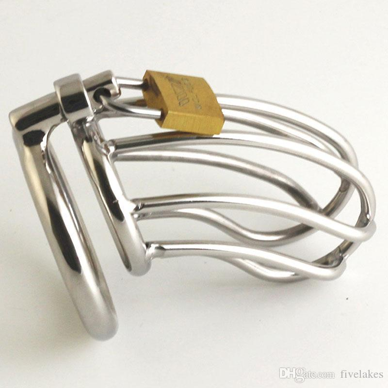 Male Chastity Belt Stainless Steel Chastity Cage Bird Device Cock Cage Cock Ring Penis Bondage Lock Sex Toys For Men On The Dick