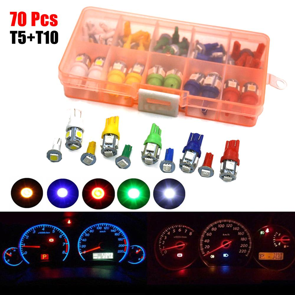 12V calibre tablero indicador LED T3 Coche Dashboard Bombillas cuadro de instrumentos de luz