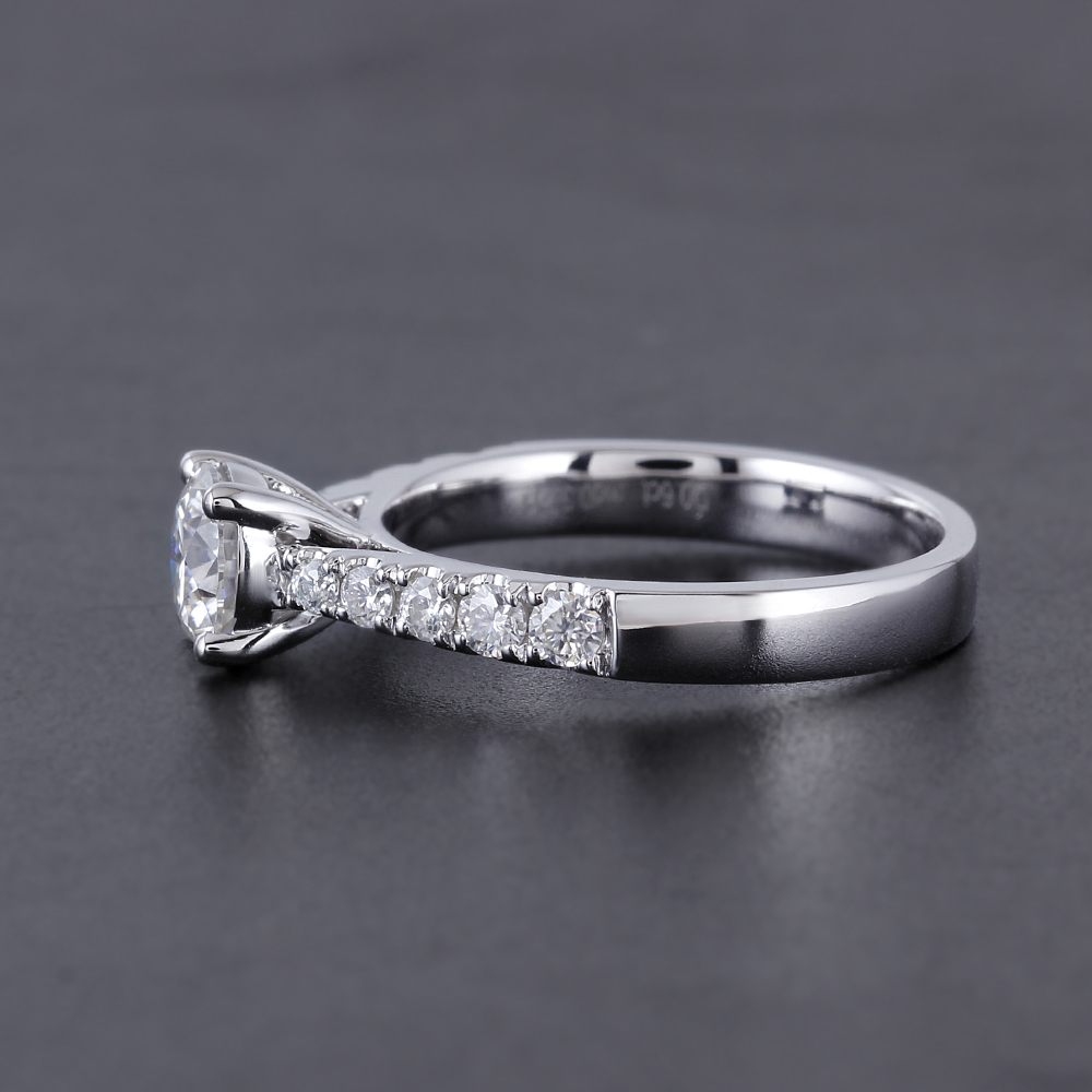 solitaire engagement ring moissanite ring (3)