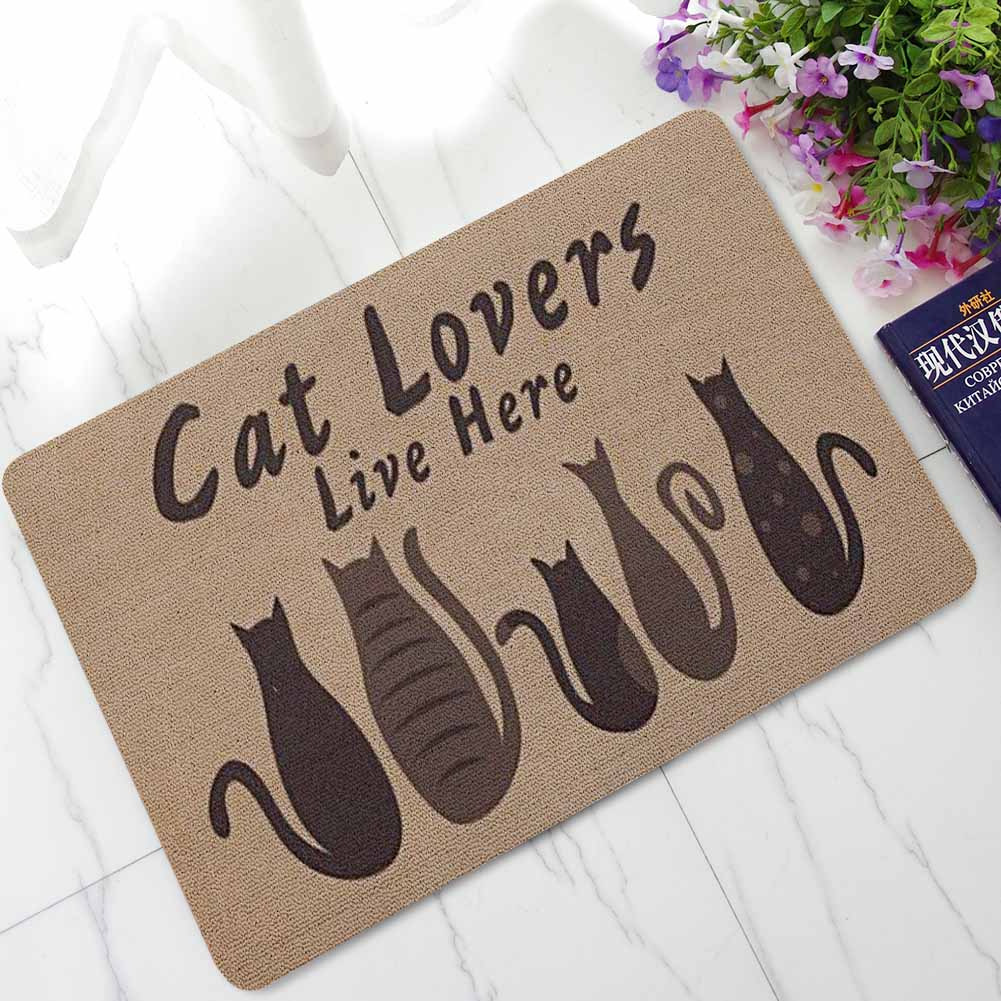 Zeegle Carpet Cat Doormat Outdoor Rugs Rubber Floor Mat Non-slip Kitchen Rug Entrance Mats Absorbent Bathroom Carpet Foot Mat C18113001