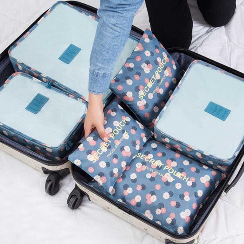 Penguin Tokyoo 6 Pcs Waterproof Clothes Packing Cubes Travel Luggage Organizer Bag