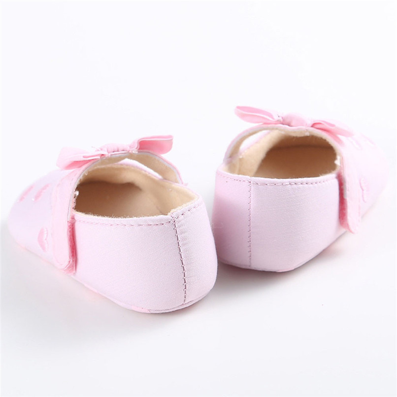 Summer Baby Girls Shoes Toddler Kids Baby Girl Canvas Solid Bow-knot Soft Sole Anti-slip Shoes Baby First Walker Shoes M8Y11 (18)
