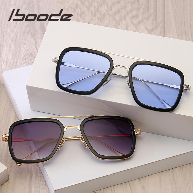 Iboode lunettes de soleil rétro Steampunk   Lunettes de