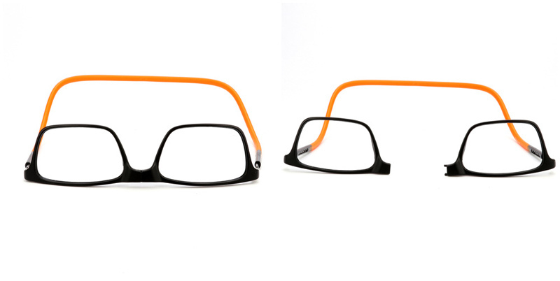 c92737ce3c Actualizados Titanio Gafas de lectura magnética Hombres Colgante ajustable  Cuello Gafas plegables Delgado Frente Conectar Lente magnética 1-4USD  9.68/trozo