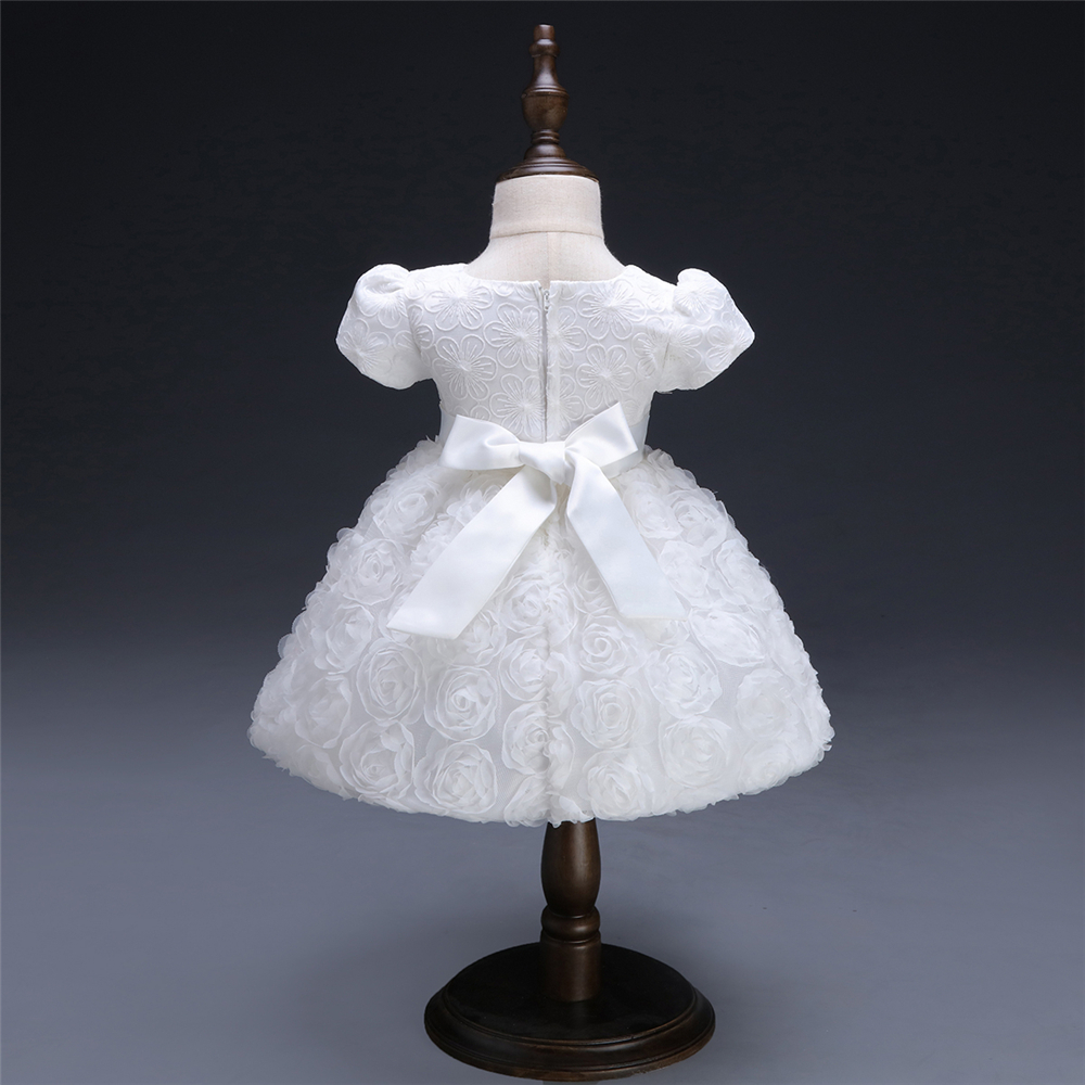 White Baby Dresses Girl Newborn 1st Year Birthday Infant Outfit Cute Princess Party Wedding Christening Dress Gown For Baby Girl (3)