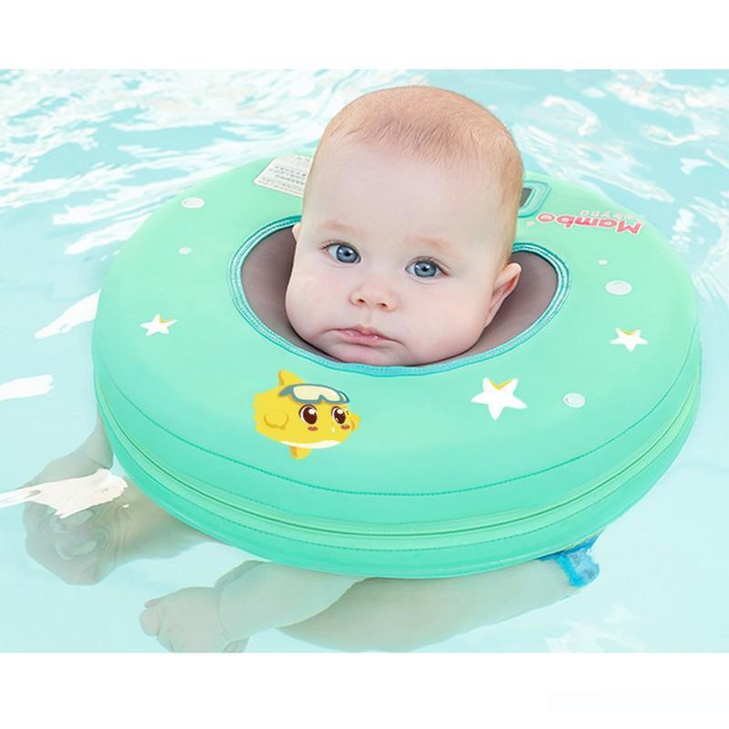 Neugeborenes Baby-Sicherheits-Schwimmen-Hals-Schwimmring-Bad-aufblasbarer Kreis