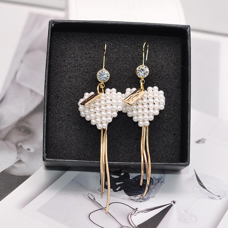 Persönlichkeit Temperament Joker Liebe Pfirsich Manuelle Perle Perlenkette Perlen Mode Ohrringe Schmuck Big Die Ohrbügel Frau Böhmischen