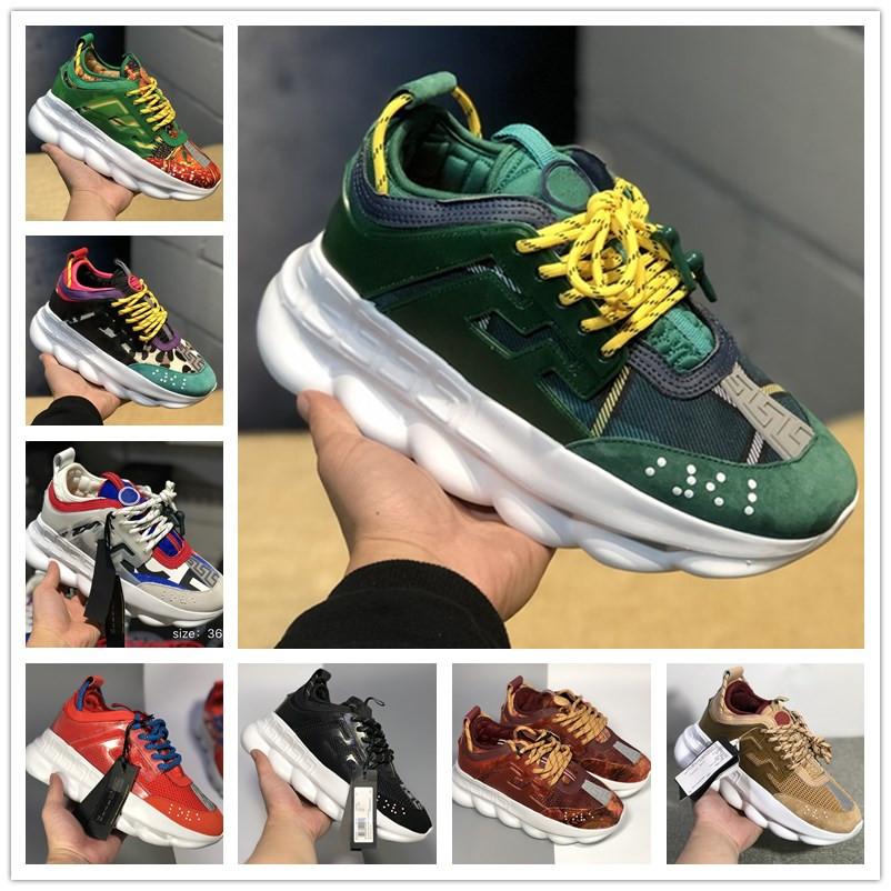 Réaction de la chaîne Sneakers Hommes Hommes Designer De Luxe Chaussures Femmes Femmes Sport Sporters Casual Chaussures De Mode Baskets Avec La