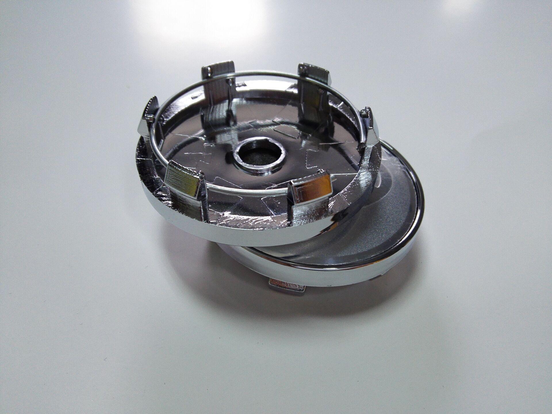 4 x 50mm Adesivi Cerchi in lega effetto cromo adatti KIA centro hub cap badge Trim
