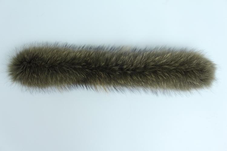 natural real raccoon fur hoody trim collar (11)