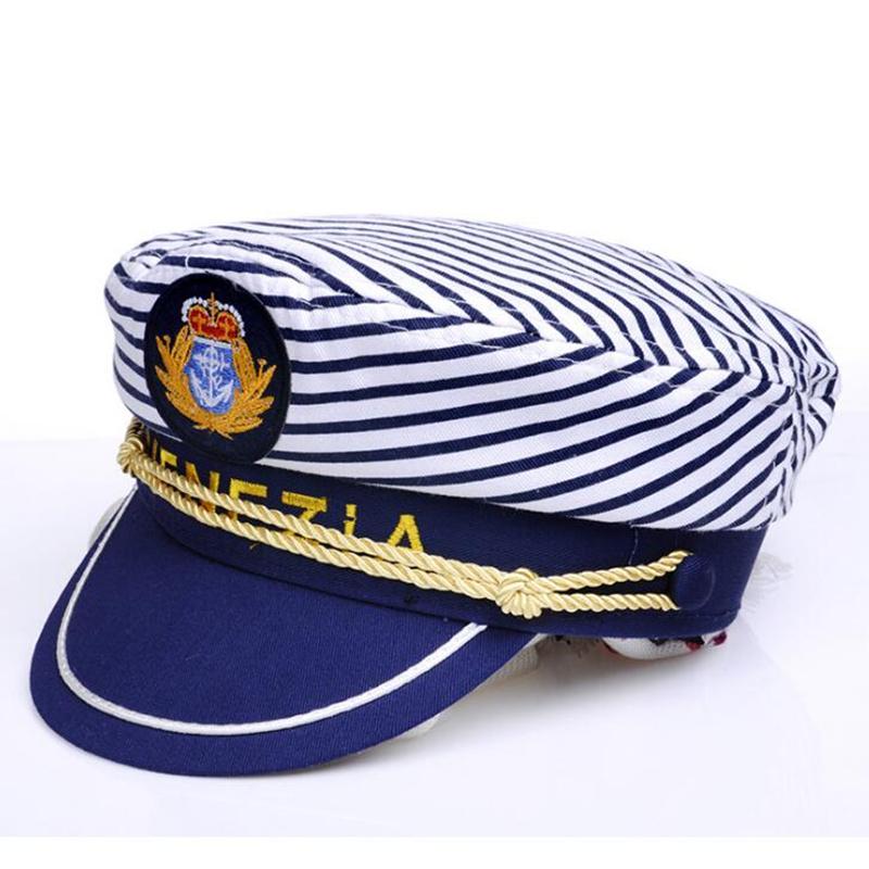 Unisex Seemann Kapit/än Hat Schiffs-Boots Kapit/än Hat Navy Marine-Skipper Seemann Cap Adjustable Wasser Cap f/ür Frauen und M/änner