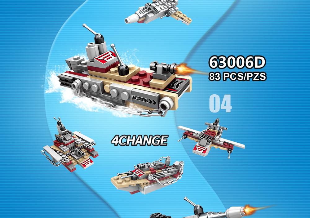 1000 PCS Military Warship Navy Tank Aircraft Army Figures Building Blocks