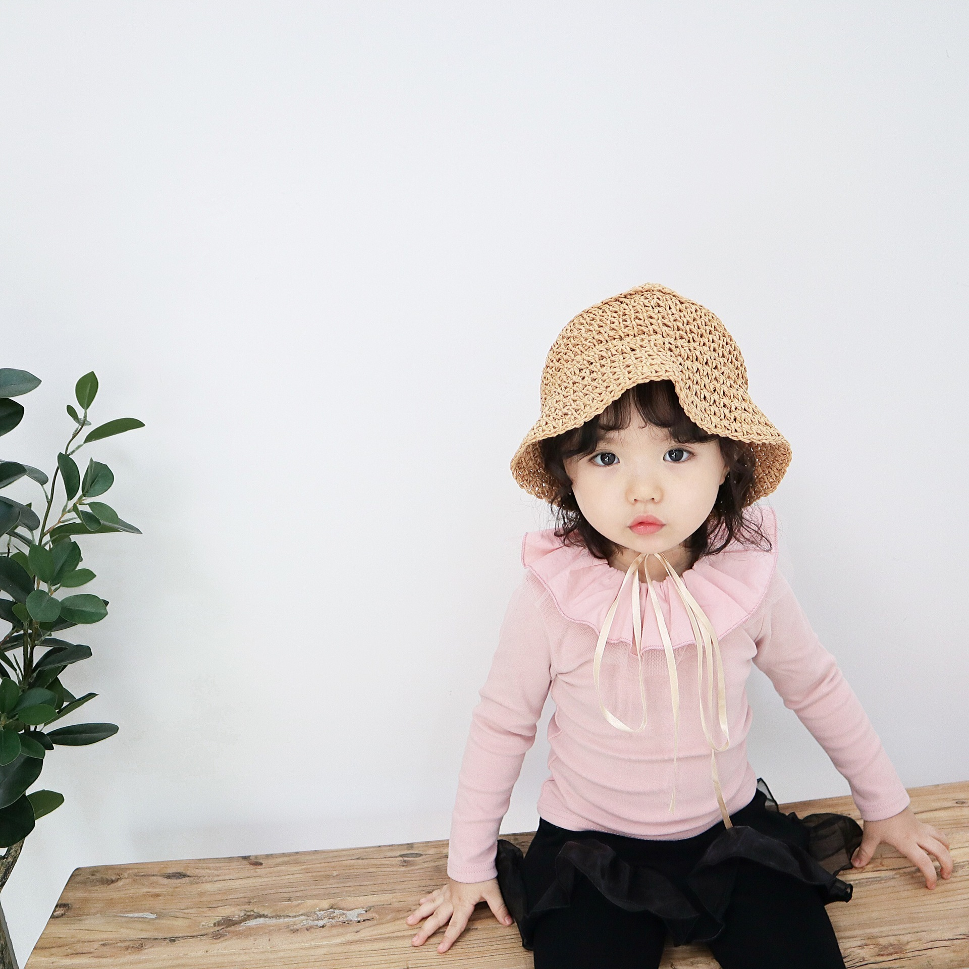 Toddler Blouse Baby Girl Pure Cotton Soft Ruffles Turn Down Collar Long Sleeve White Shirt Basic Bottoming Blouse Clothes 12m-5T
