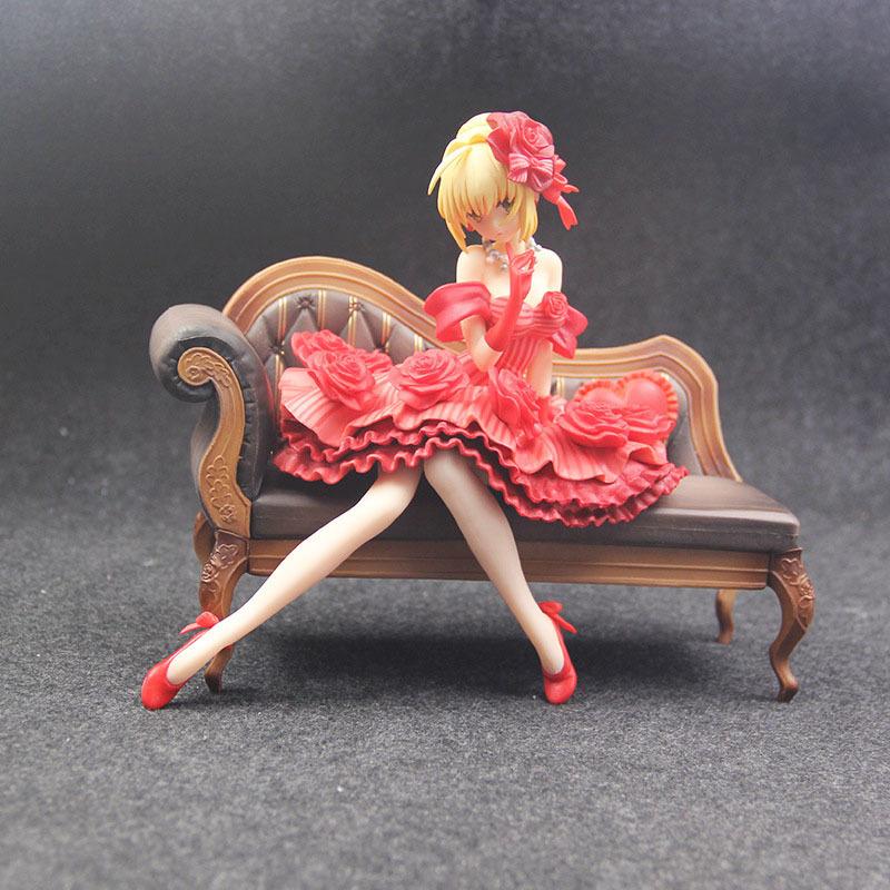 Fate Stay Night Extra Red Saber Nero Claudius Caesar Augustus Germanicus Idol Emperor 20cm Action Figure figurine (2)
