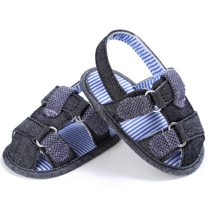 2 Color Summer Fashion Baby Boys Sandals Toddler Infant Kids Baby Boys Canvas Anti-slip Sole Crib Sandals Shoes M8Y02 (7)