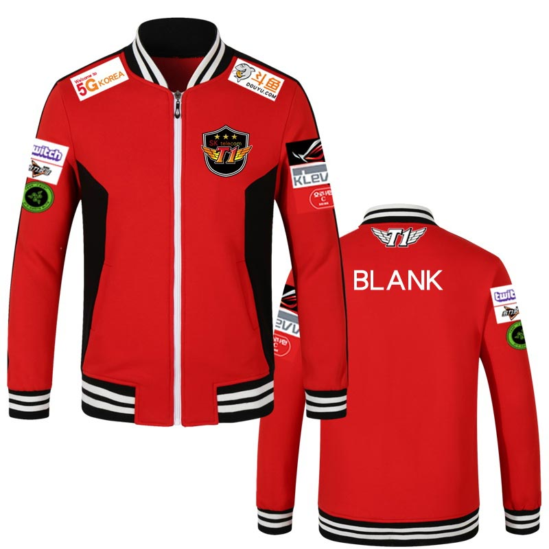 Skt T1 Jacket Men Hoodies S7 Team Jersey Sktt1 Telecom T1 Faker Sweatshirts Zipper Cotton Wolf Bang Hoody Uniform Coat Women Z40