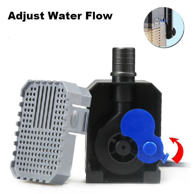 Super 4 In 1 Sunsun Internal Aquarium Filter Pump Fish Tank Multifunction Wave Maker Water Circulation Air Pump Filter