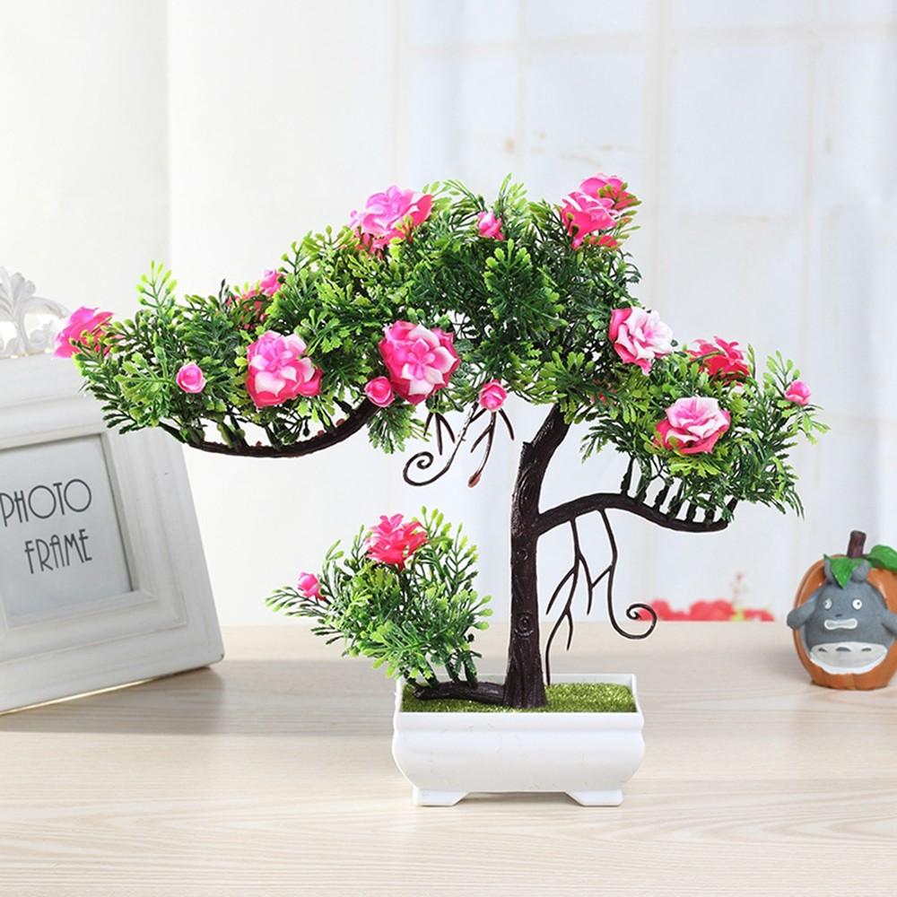 Gros Pot Fleur Plastique ménage artificielle fleur simulation en pot décor petit miniascape ensemble  de fleurs salon intérieur en plastique décor nouveau