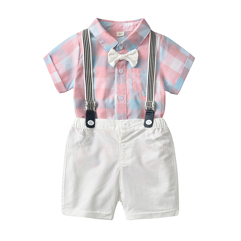 Toddler Kids Baby Boys Gentleman Clothes Set Bow Shirt+Shorts Pants Party Suit