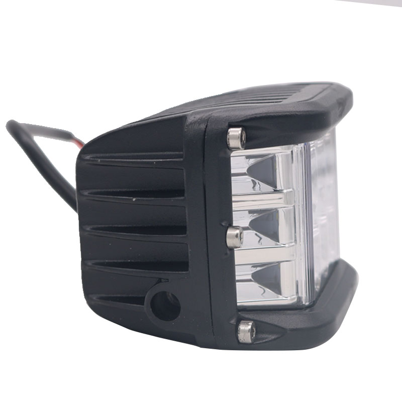 "4"" 90W Flashing LED Work Light Bar Pods Dually Side Shooter Cube Lights For Truck UTV ATV SUV Boat Jeep Motorcycles"