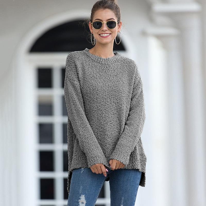 Кардиган Женщина вязания Осень свитер с длинным рукавом свитера Свитера вязаные Перемычки Женская мода Теплая водолазка Knit