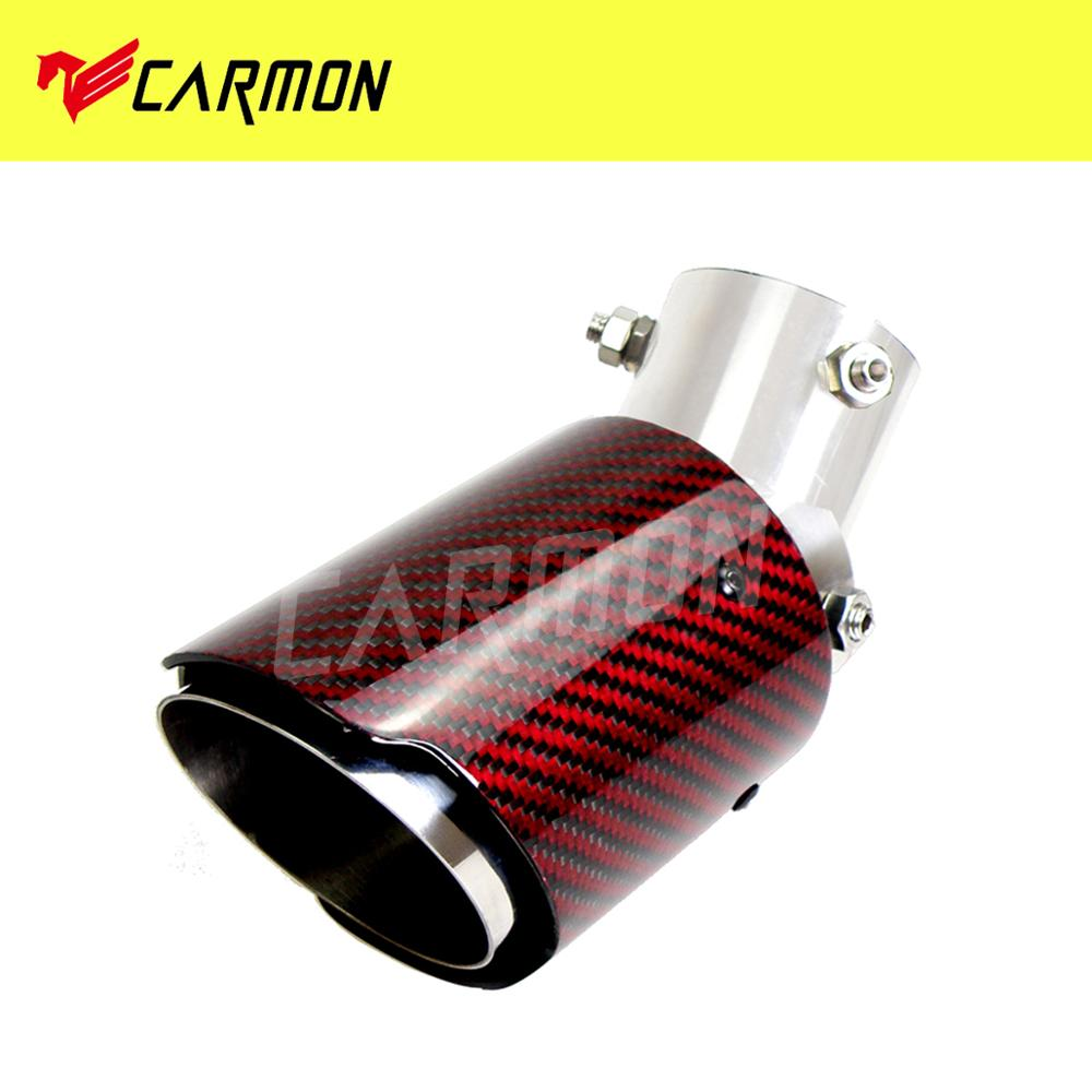 60mm 3.5/ Outlet matte Carbon Fiber Exhaust Pipe Muffler Tips-straight edge Inlet 54//57//60//63mm Outlet 89mm