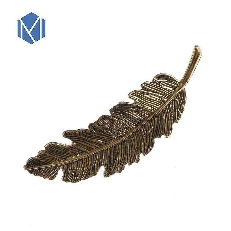 New Kawaii Hair Clips For Women Metal Feather Silver Golden Barrette Vintage Hairpins Korean Fashion Prendedor De Cabelo