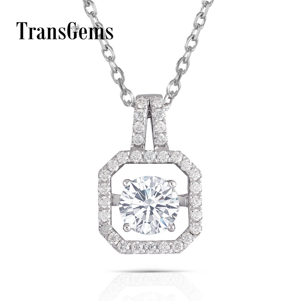 moissanite-pendant-necklace 14k white gold (7