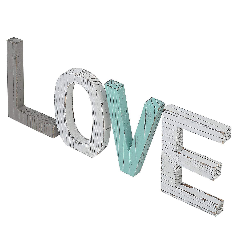 Decorazioni Lettere D Amore comprare all'ingrosso amore lettere di legno nozze ecomonico