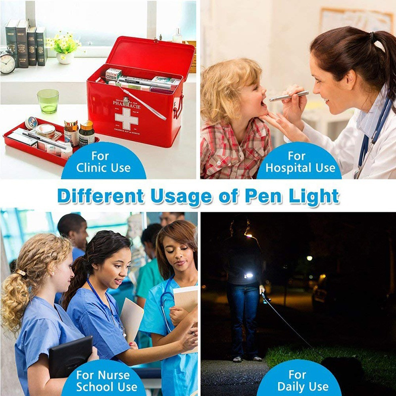 Portátil Lanterna Médica Caneta de Bolso Luz LED Lanterna Tocha Recarregável USB Lanternas De Enfermagem Médicos de Primeiros Socorros Acampamento Ao Ar Livre