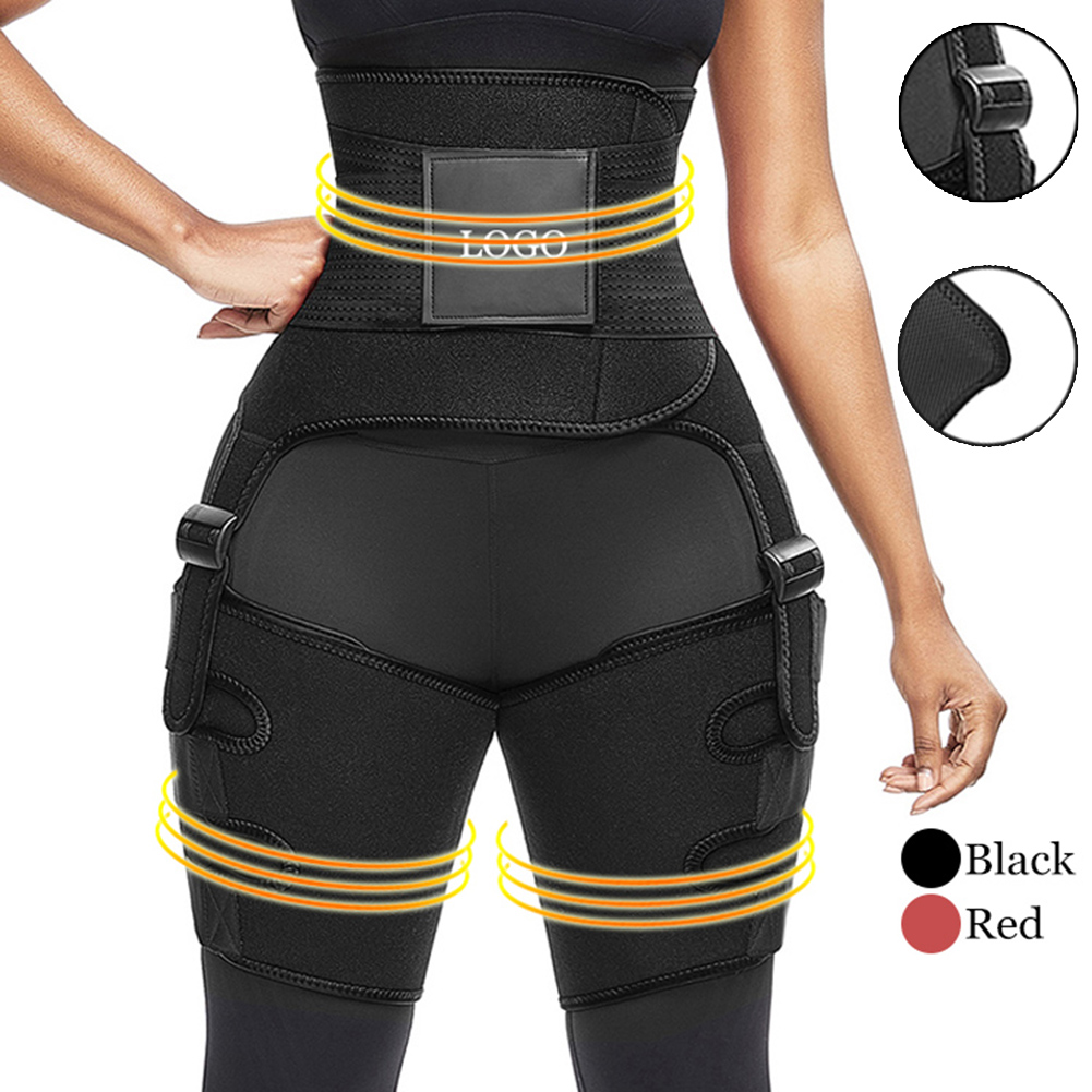 Slim Red Neoprene Thigh Trimmer With Waist Belt Waist Thigh Waist Trainer