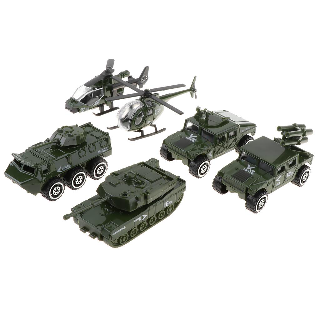 10 Stück Militärfahrzeuge Modellautos Schwerer Panzer Panzer Kinder Tasche