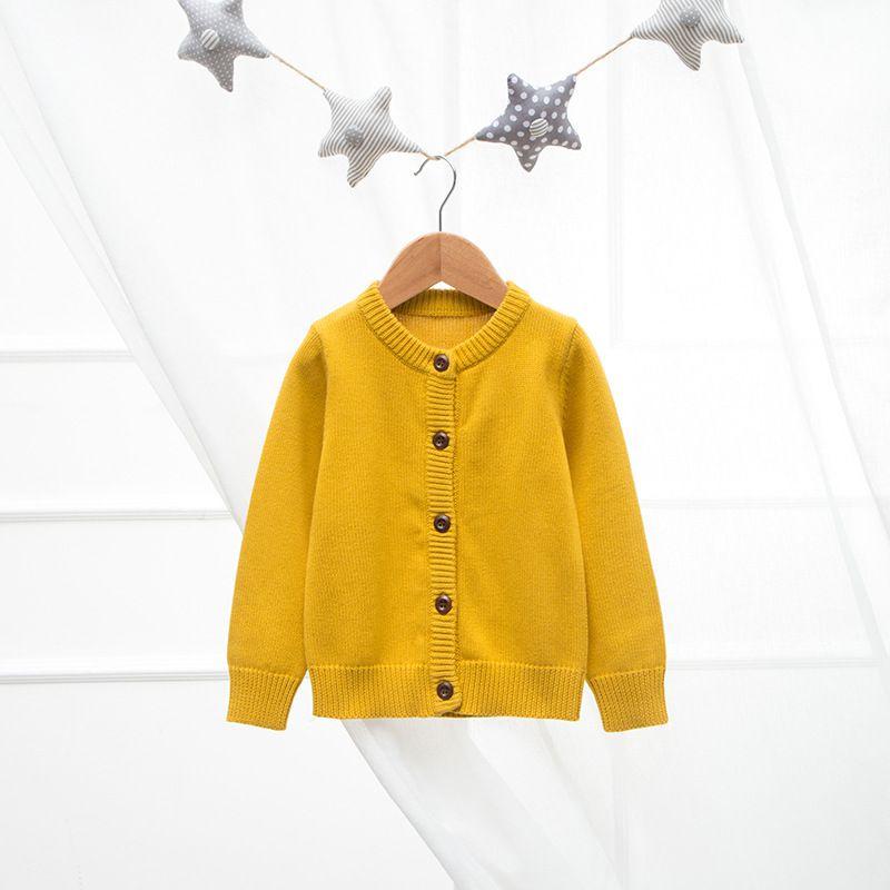 Bambini//Ragazze Scollo A V Nero Scuola Cardigan Cotone Ricco Manica Lunga Uniforme