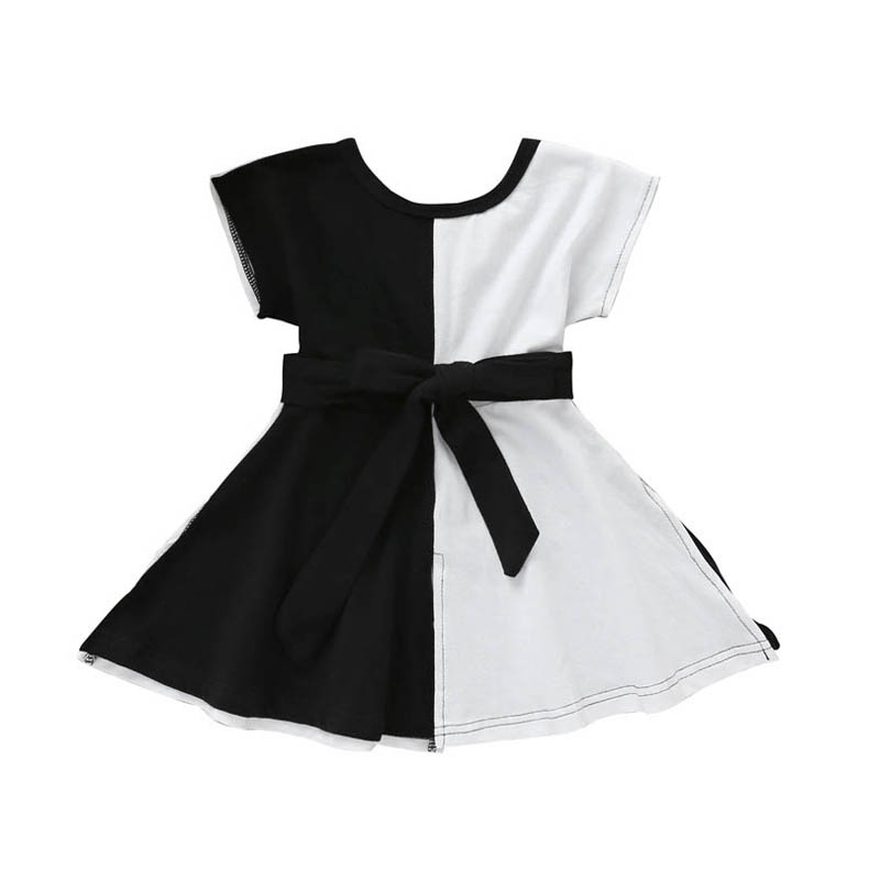 MOVEmen Baby Girls Sleeveless Solid Vest Dress Ruffles Dresses Clothes Irregular Skirt Pleated Skirt Tutu