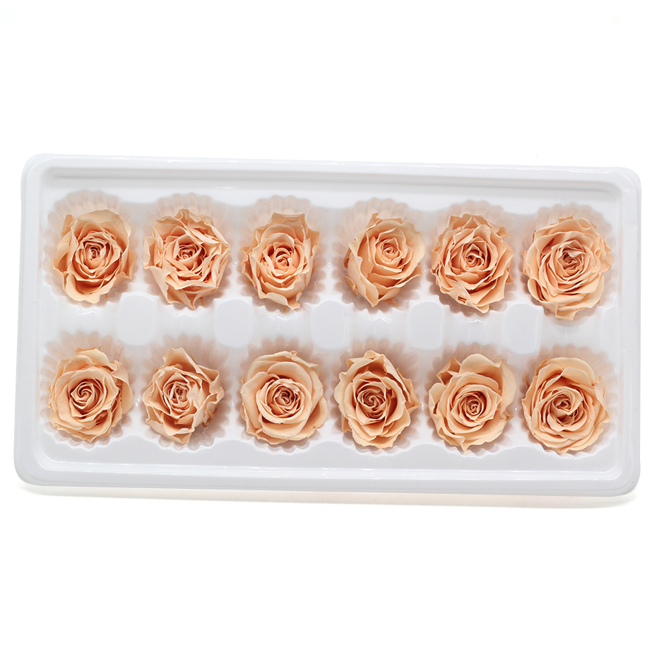 Real Rose Eternelle Box Natural Preserved Flower Rose 3-4cm Immortal Rose Valentines Day Gift Fleur Eternelle J190707
