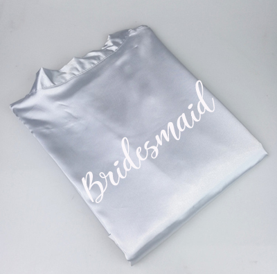 grey robe bridesmaid