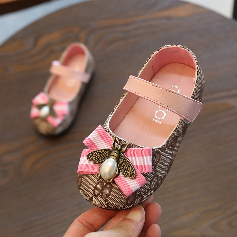 Summer Kid enfant bébé filles sandales de plage nœud cuir Princesse Chaussures