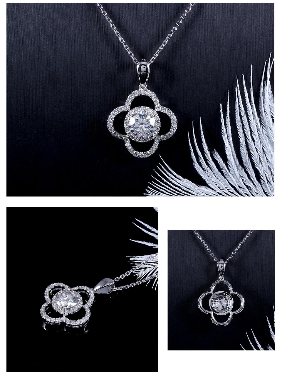 moissanite flower necklace (1)