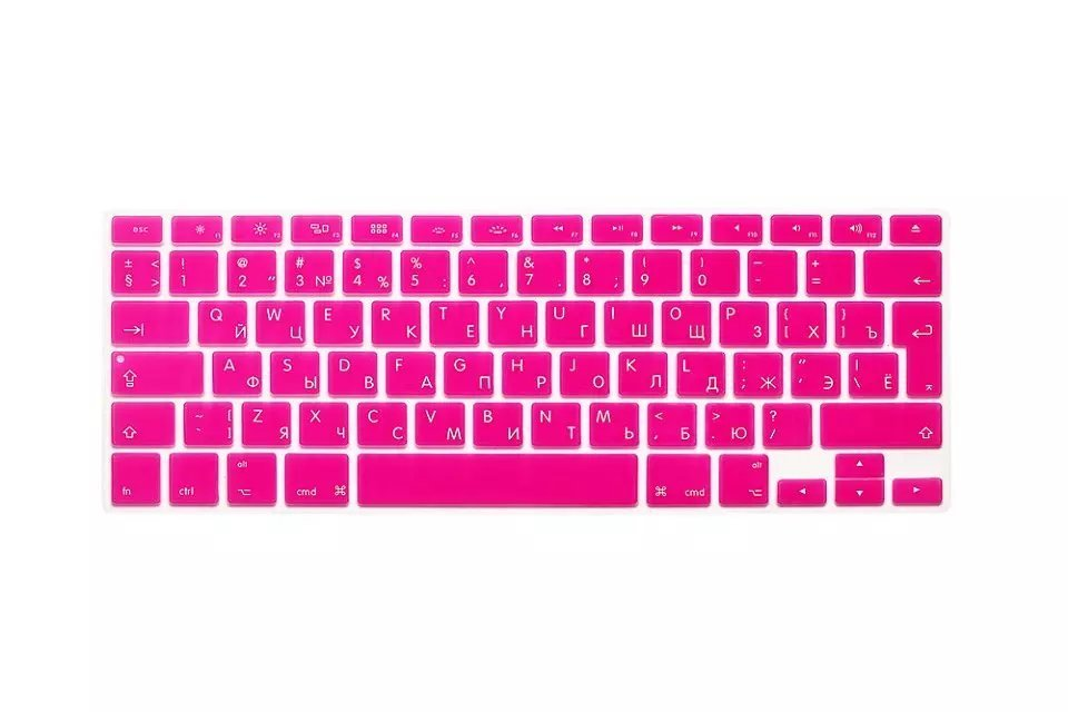 EU US Soft Silicon For Macbook Air 13 A1466 Keyboard Cover Russian Language Cover For Macbook Air 13 Retina13 Keyboard Cover (6)