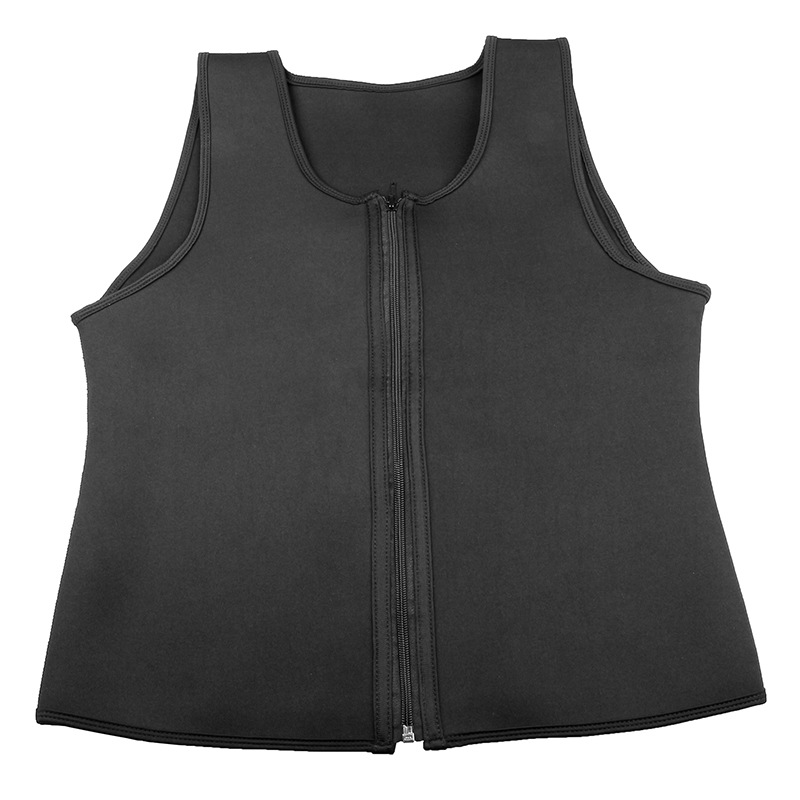 CXZD 2019 Men Waist Trainer Vest for Weightloss Hot Neoprene Corset Body Shaper Zipper Shapewear Slimming Belt Belly Men (14)