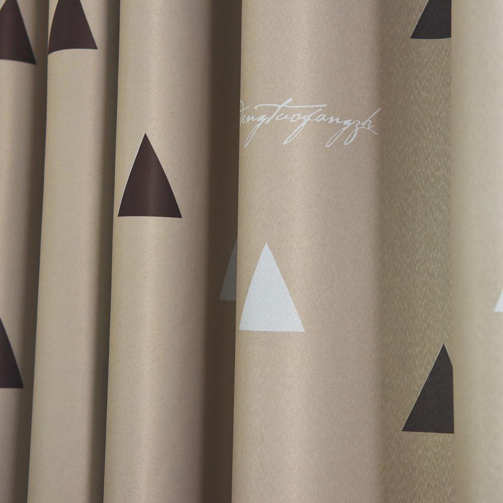 Salon Jinya Ev Üçgen Bej Gri Polyester Isı Yalıtımı Çocuk Odası Perde Drape için Mutfak Karartma Perdeler