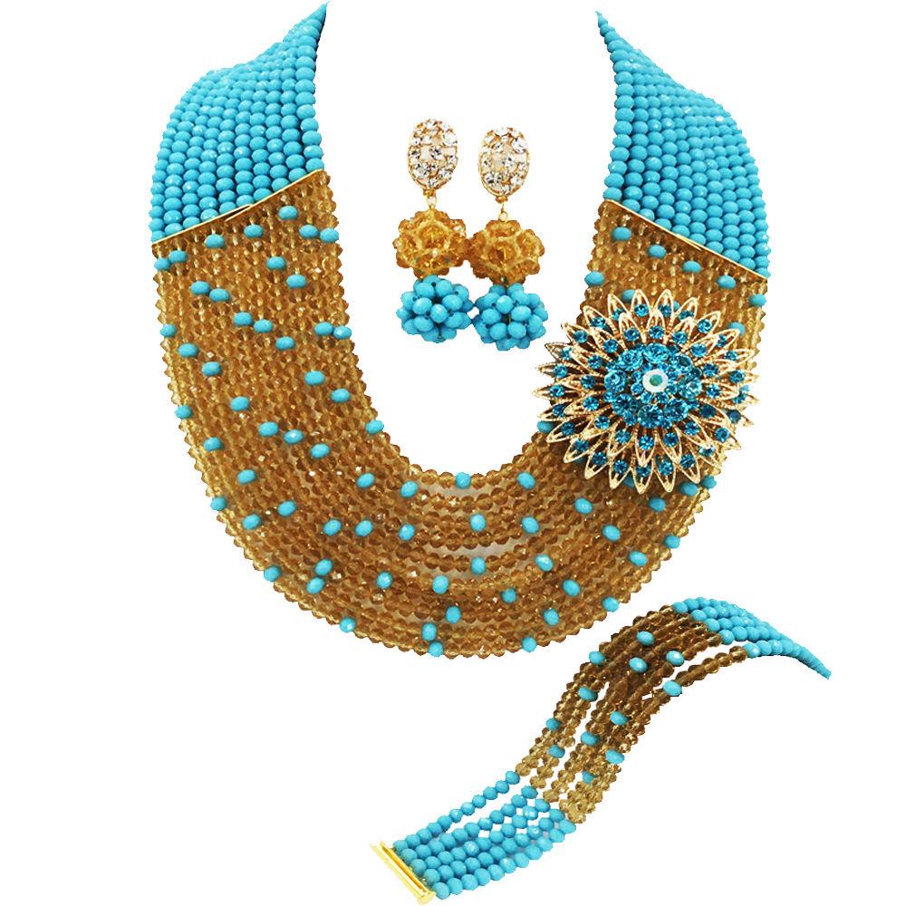 Aqua Blue Champagne Gold (1)