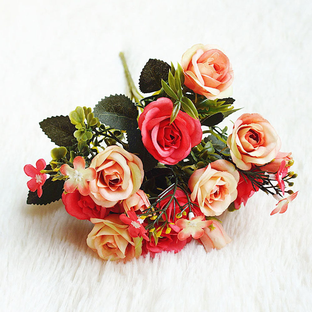Home Decor Artificial Silk Flowers Fake Rose Bunch Wedding Home Grave Garden Bouquet Uk Hot Home Furniture Diy Breadcrumbs Ie