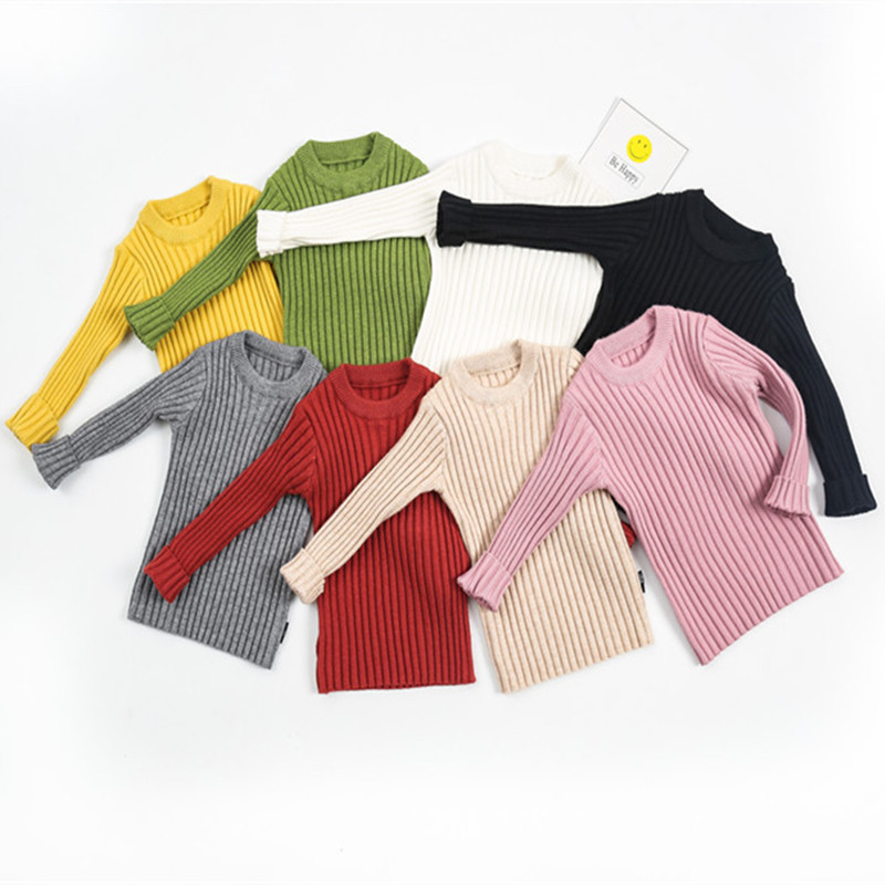 1-6 Years Kids Sweaters Baby Boy Sweater Toddler Girls Sweater Cotton Ribbed Knit Cardigan